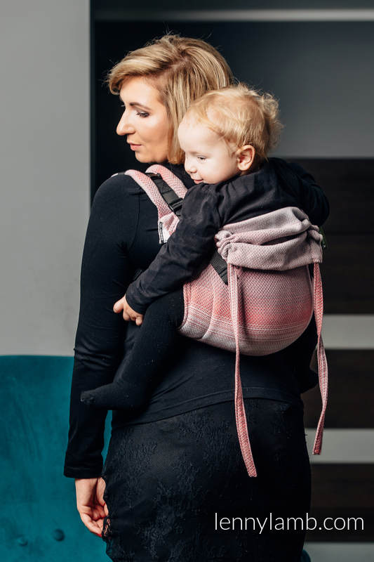 Lenny Buckle Onbuhimo, standard size, herringbone weave (100% cotton) - Wrap conversion from LITTLE HERRINGBONE ELEGANCE  #babywearing
