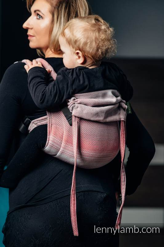 Onbuhimo SAD LennyLamb, talla estándar, tejido espiga (100% algodón) - LITTLE HERRINGBONE ELEGANCE #babywearing