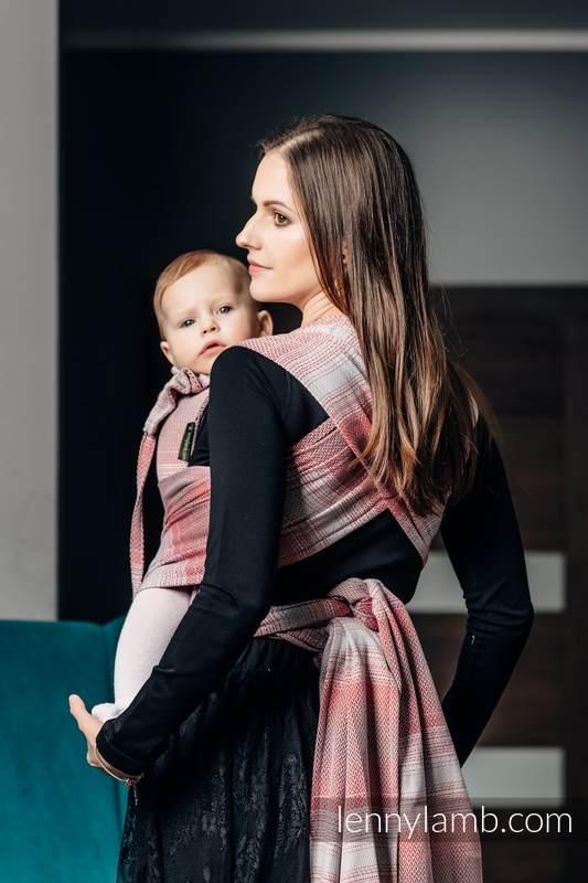 WRAP-TAI carrier Mini with hood/ herringbone twill / 100% cotton / LITTLE HERRINGBONE ELEGANCE  #babywearing