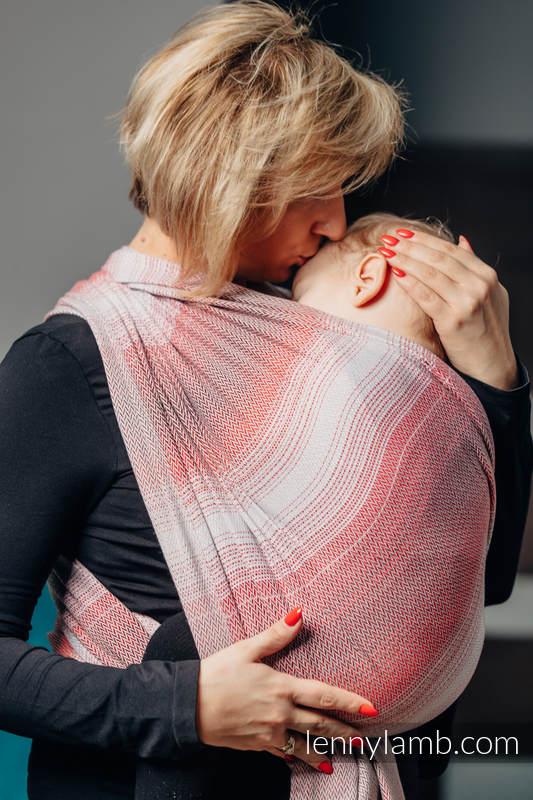Baby Wrap, Herringbone Weave (100% cotton) - LITTLE HERRINGBONE ELEGANCE - size S #babywearing