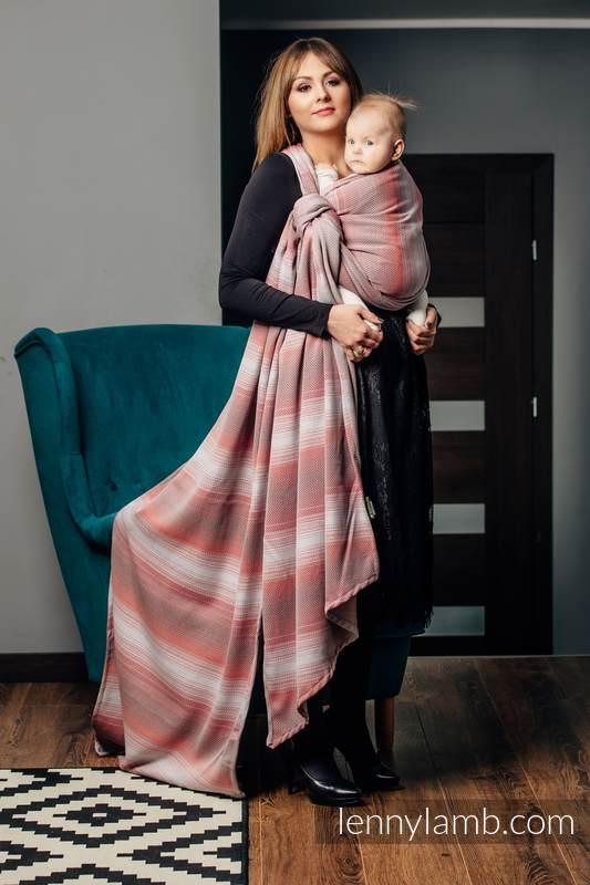 Baby Wrap, Herringbone Weave (100% cotton) - LITTLE HERRINGBONE ELEGANCE - size XS #babywearing