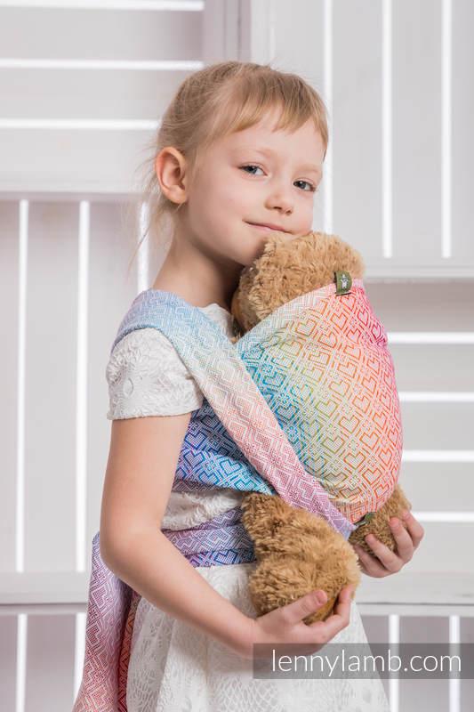Fular portamuñecos, tejido jacquard, 100% algodón - BIG LOVE RAINBOW #babywearing