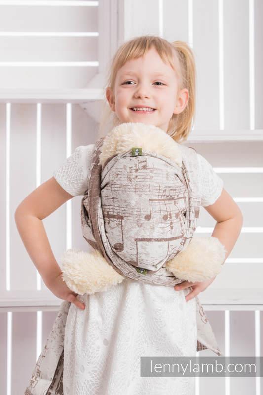 Fular portamuñecos, tejido jacquard, 100% algodón - SYMPHONY CREMA & MARRÓN #babywearing