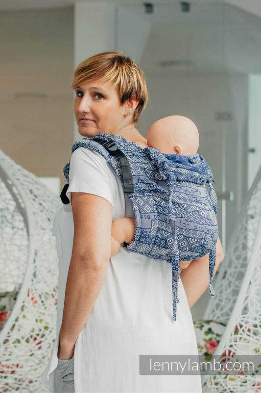 Lenny Buckle Onbuhimo baby carrier, standard size, jacquard weave (100% cotton) - FOR PROFESSIONAL USE EDITION - ENIGMA 1.0 #babywearing