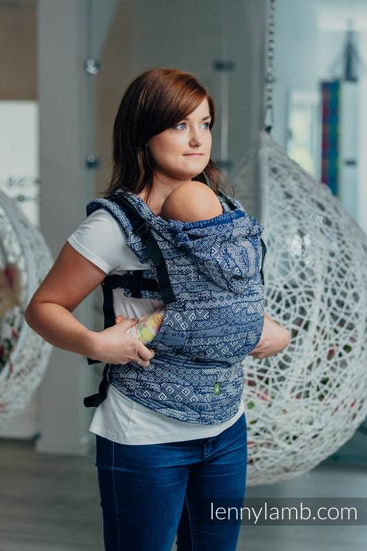 Ergonomic Carrier, Toddler Size, jacquard weave 100% cotton - FOR PROFESSIONAL USE EDITION - ENIGMA 1.0, Second Generation #babywearing