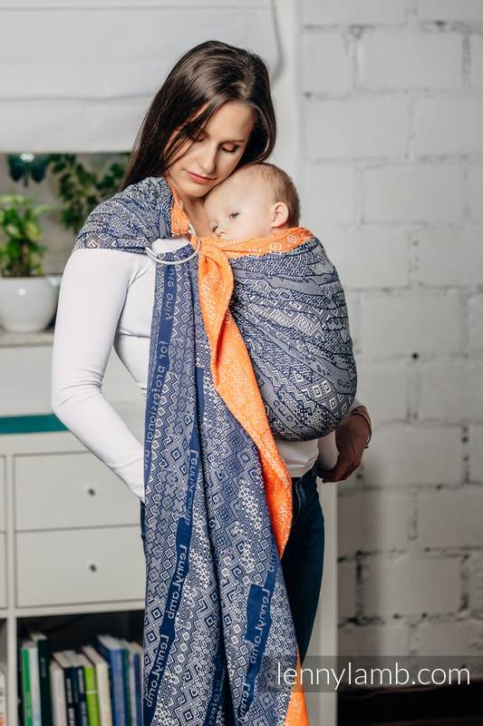 Ringsling, Jacquard Weave (100% cotton), with gathered shoulder - FOR PROFESSIONAL USE EDITION - ENIGMA 2.0 - long 2.1m #babywearing