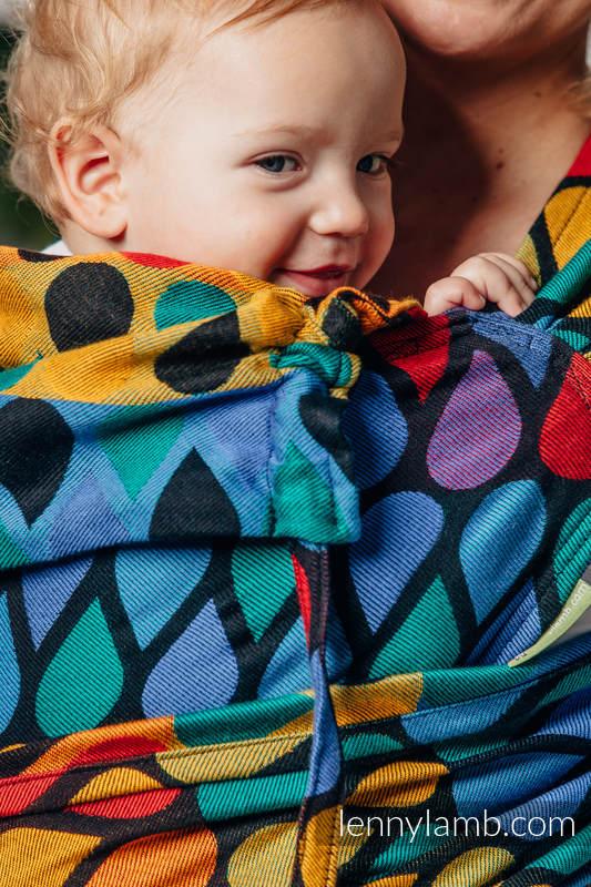 WRAP-TAI carrier Mini with hood/ jacquard twill / 100% cotton / JOYFUL TIME #babywearing