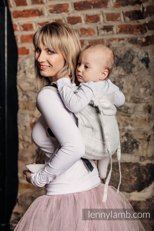 Lenny Buckle Onbuhimo Tragehilfe, Größe Standard, Jacquardwebung (60% Baumwolle, 28% Leinen, 12% Tussahseide) - CRYSTAL LACE #babywearing