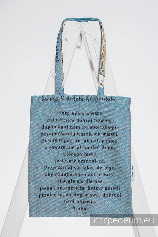 Torba z materiału żakardowego, (100% bawełna) - GABRIEL ARCHANIOŁ - uniwersalny rozmiar 33cmx39cm #babywearing