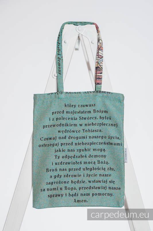 Torba z materiału żakardowego, (100% bawełna) - RAFAŁ ARCHANIOŁ - uniwersalny rozmiar 33cmx39cm #babywearing