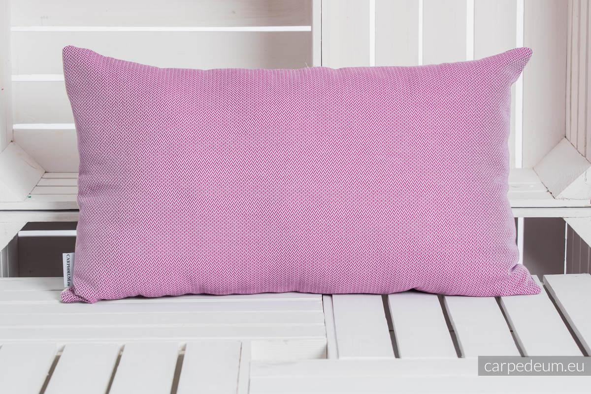 Poduszka żakardowa, (100% bawełna) - IKONA PRZYJAŹNI  - MAŁA JODEŁKA PURPUROWA - uniwersalny rozmiar 68cmx40cm #babywearing