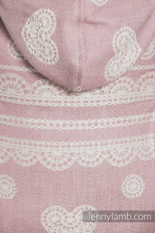 Ergonomic Carrier, Toddler Size, jacquard weave 60% cotton 28% linen 12% tussah silk -POWDER PINK LACE, Second Generation #babywearing