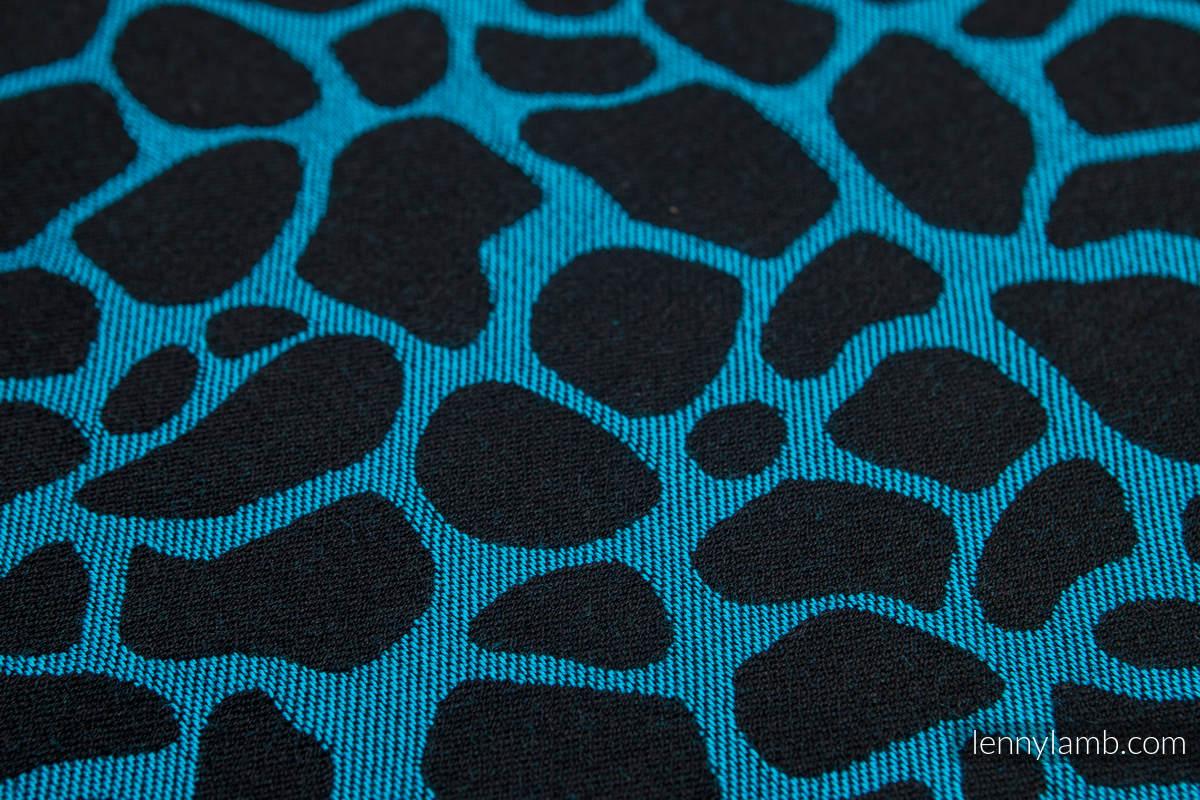 Baby Wrap, Jacquard Weave (100% cotton) - GIRAFFE BLACK & TORQUOISE  - size XL #babywearing