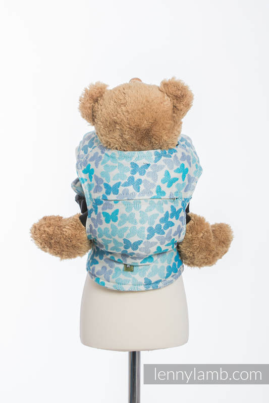 Doll Carrier made of woven fabric, 100% cotton - BUTTERFLY WINGS BLUE  #babywearing