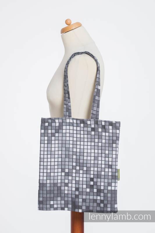 Shopping bag made of wrap fabric (100% cotton) - MOSAIC - MONOCHROME (grade B) #babywearing