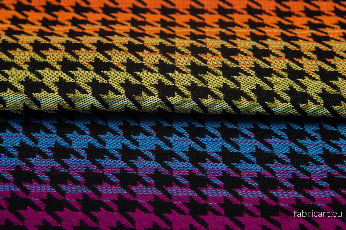PEPITKA RAINBOW DARK, fabric quarters, jacquard, size 50cm x 70cm #babywearing