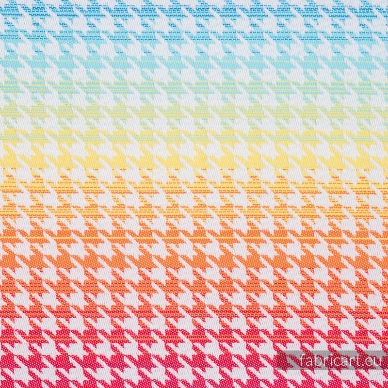PEPITKA RAINBOW LIGHT, fabric quarters, jacquard, size 50cm x 70cm #babywearing