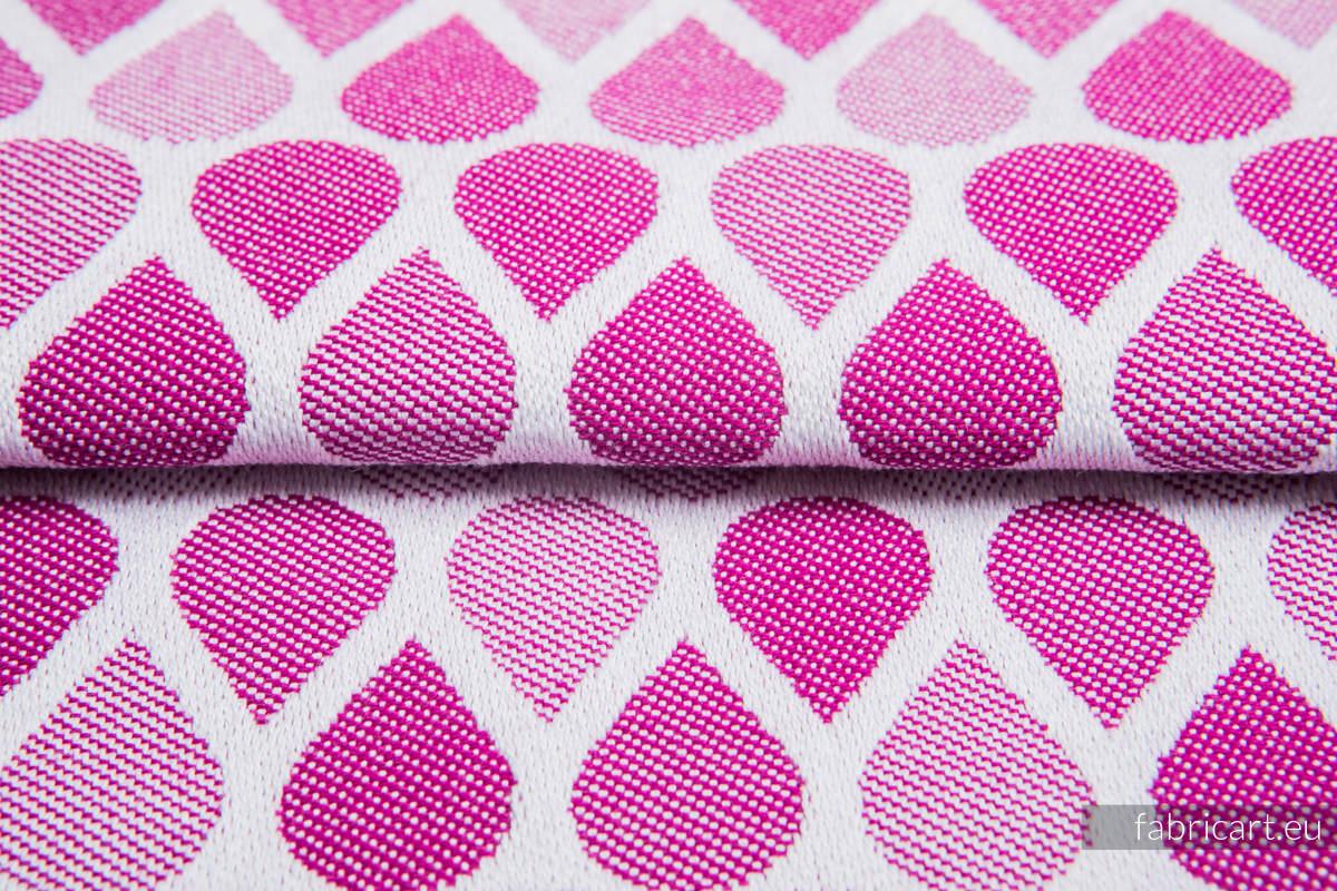 KROPLE RUBINOWY, ćwiartka tkaniny, splot żakardowy, rozmiar 50cm x 70cm #babywearing