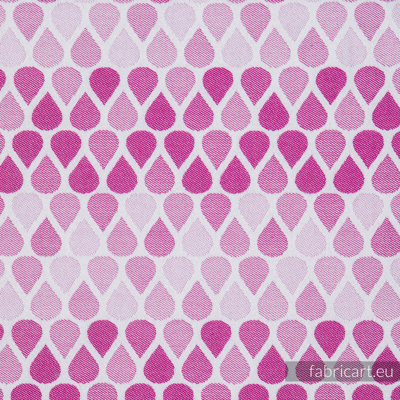 RAINDROPS RUBY, fabric quarters, jacquard, size 50cm x 70cm #babywearing