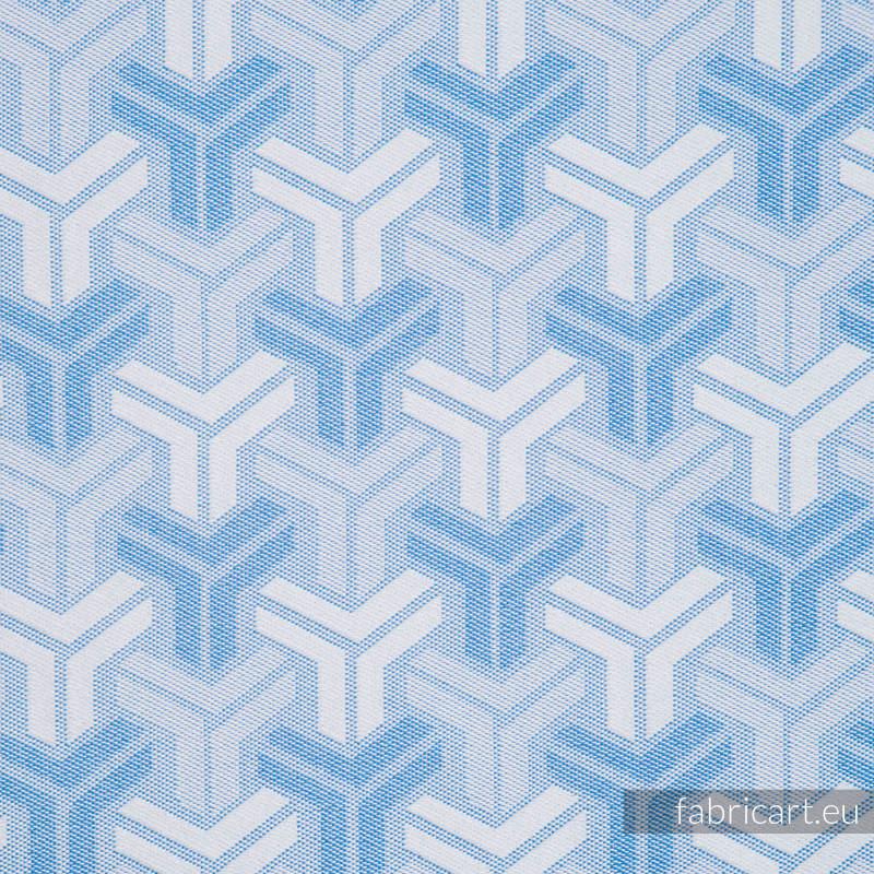 TRINITY BABY BLUE, fabric quarters, jacquard, size 50cm x 70cm #babywearing
