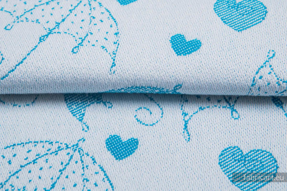 PARASOLKI NIEBIESKIE NIEBO, ćwiartka tkaniny, splot żakardowy, rozmiar 50cm x 70cm #babywearing