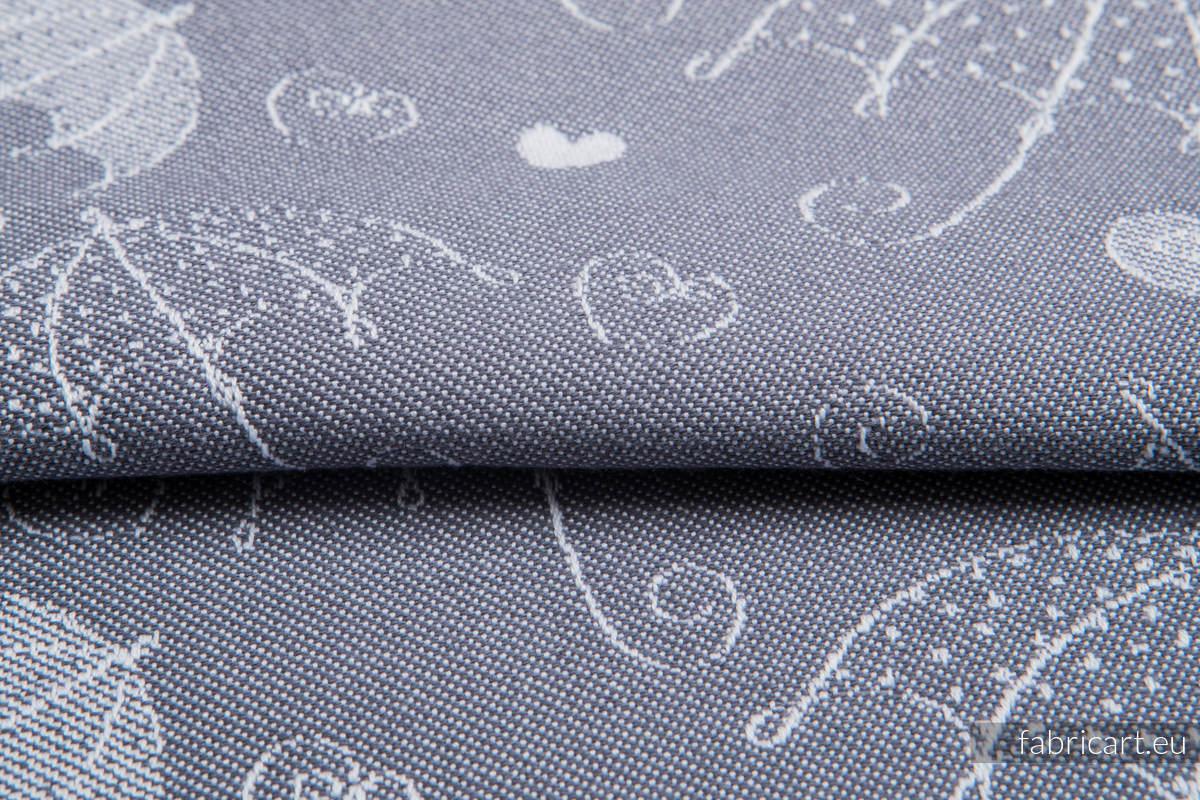 UMBRELLAS SILVER, fabric quarters, jacquard, size 50cm x 70cm #babywearing