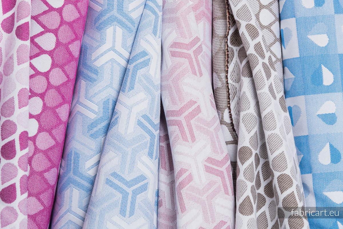 TRINITY PUDROWY RÓŻ, ćwiartka tkaniny, splot żakardowy, rozmiar 50cm x 70cm #babywearing