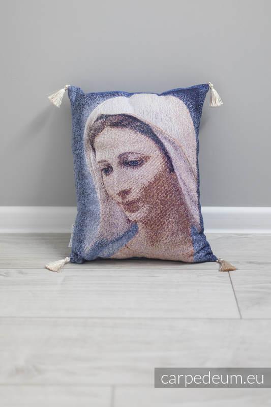 Poduszka żakardowa, (100% bawełna) - MATKA BOŻA TIHALJINA - uniwersalny rozmiar 31cmx43cm #babywearing