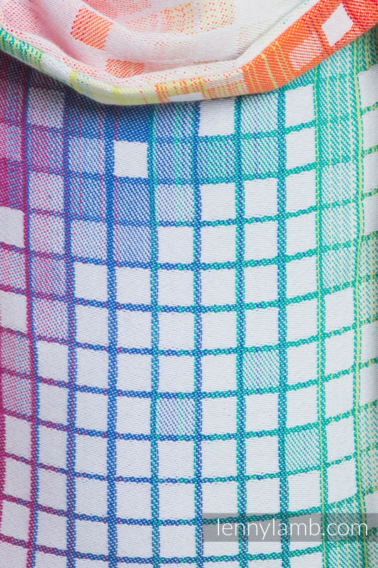 Onbuhimo SAD LennyLamb, talla estándar, jacquard (100% algodón) - MOSAIC - RAINBOW #babywearing
