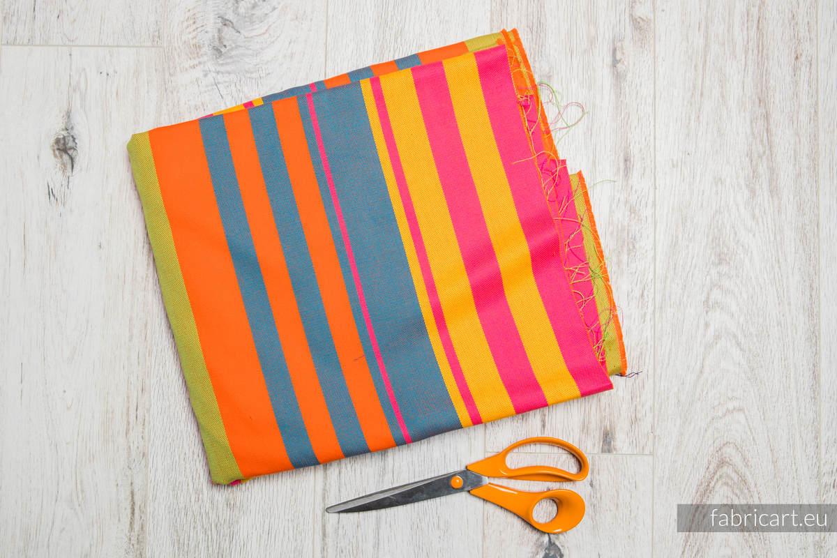 ZUMBA NIEBIESKA, kupon tkaniny, splot skośno-krzyżowy, rozmiar 130cm x 140cm #babywearing