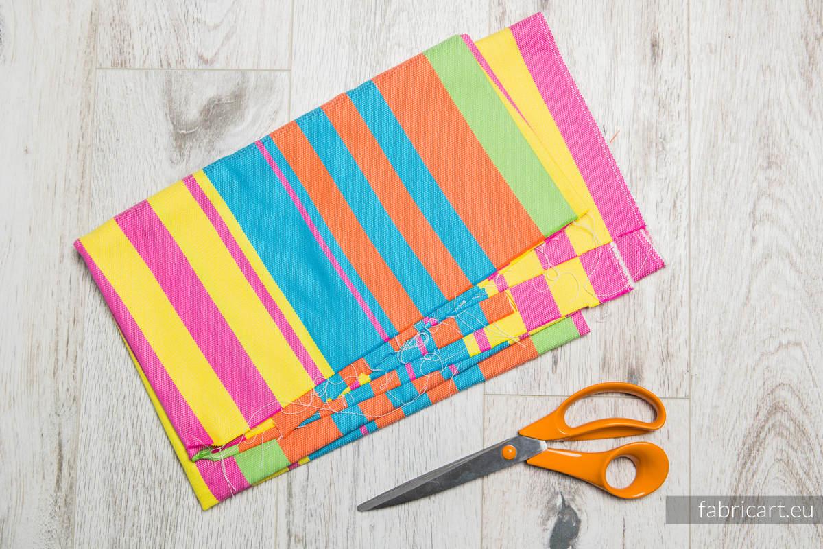 PINACOLADA, fabric scrap, broken twill weave, size 130cm x 140cm #babywearing