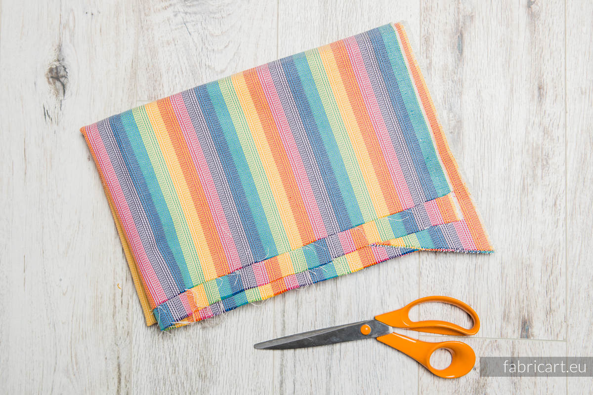 RAINBOW LIGHT, fabric scrap, broken twill weave, size 130cm x 140cm #babywearing