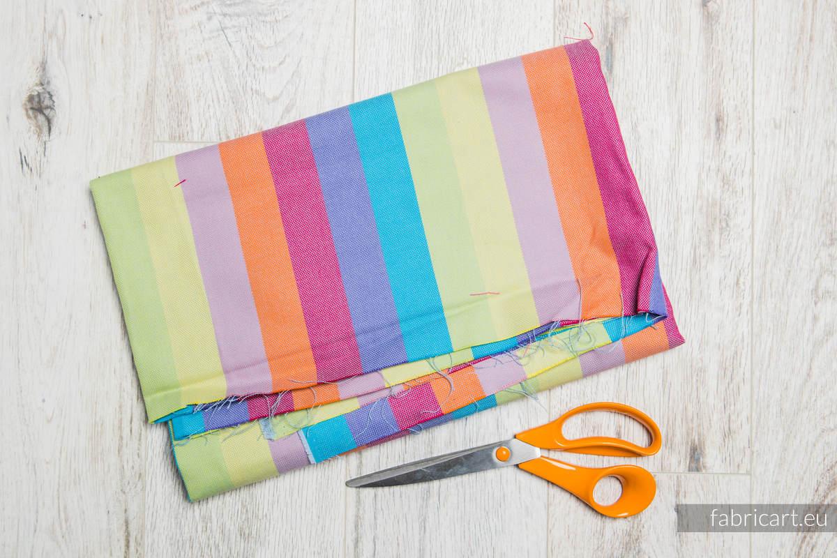 RAFA KORALOWA, kupon tkaniny, splot skośno-krzyżowy, rozmiar 130cm x 140cm #babywearing