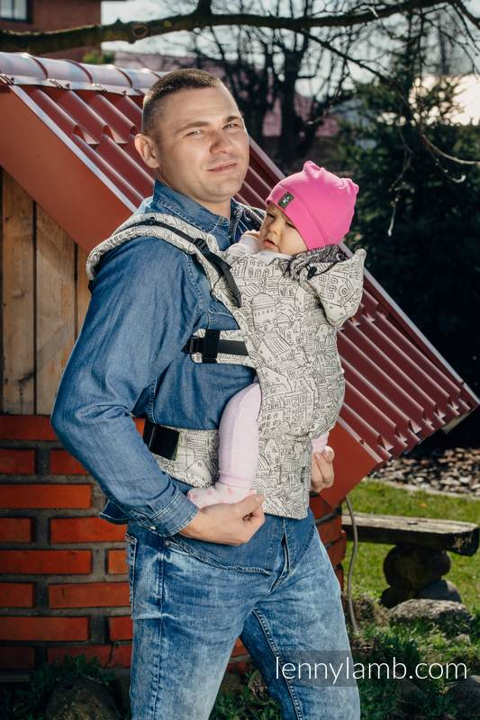 Ergonomic Carrier, Baby Size, jacquard weave 100% cotton - wrap conversion from PANORAMA  - Second Generation #babywearing