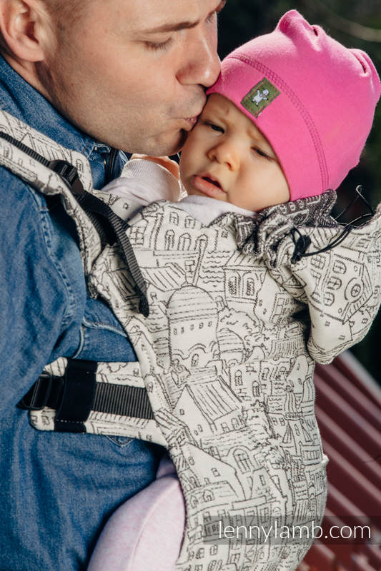 Ergonomic Carrier, Toddler Size, jacquard weave 100% cotton - wrap conversion from PANORAMA  - Second Generation #babywearing