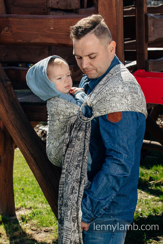 Ringsling, Jacquard Weave (100% cotton) - with gathered shoulder - PANORAMA (grade B) #babywearing