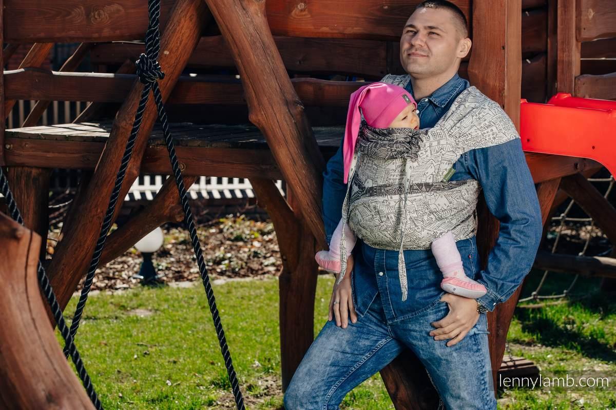 WRAP-TAI carrier Mini with hood/ jacquard twill / 100% cotton / PANORAMA   #babywearing