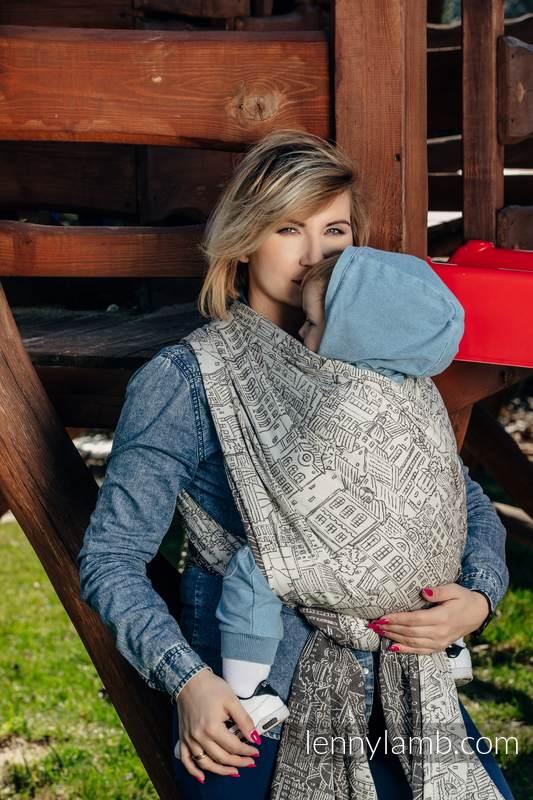 Baby Wrap, Jacquard Weave (100% cotton) - PANORAMA  - size XL #babywearing