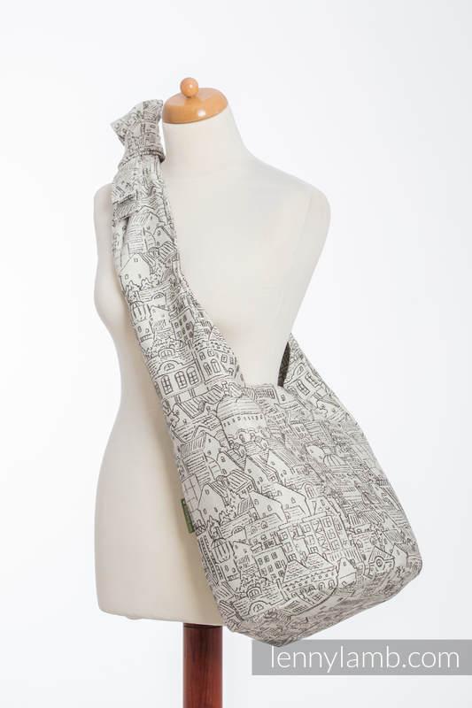 Hobo Bag made of woven fabric, 100% cotton - PANORAMA   #babywearing