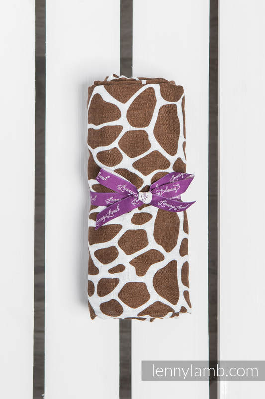 Swaddle Blanket - GIRAFFE BROWN & CREAM #babywearing