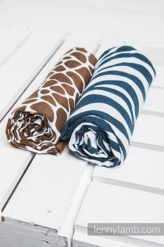Swaddle Blanket Set - ZEBRA NAVY BLUE & WHITE, GIRAFFE BROWN & CREAM #babywearing
