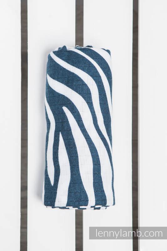 Swaddle Wrap - ZEBRA NAVY BLUE & WHITE #babywearing