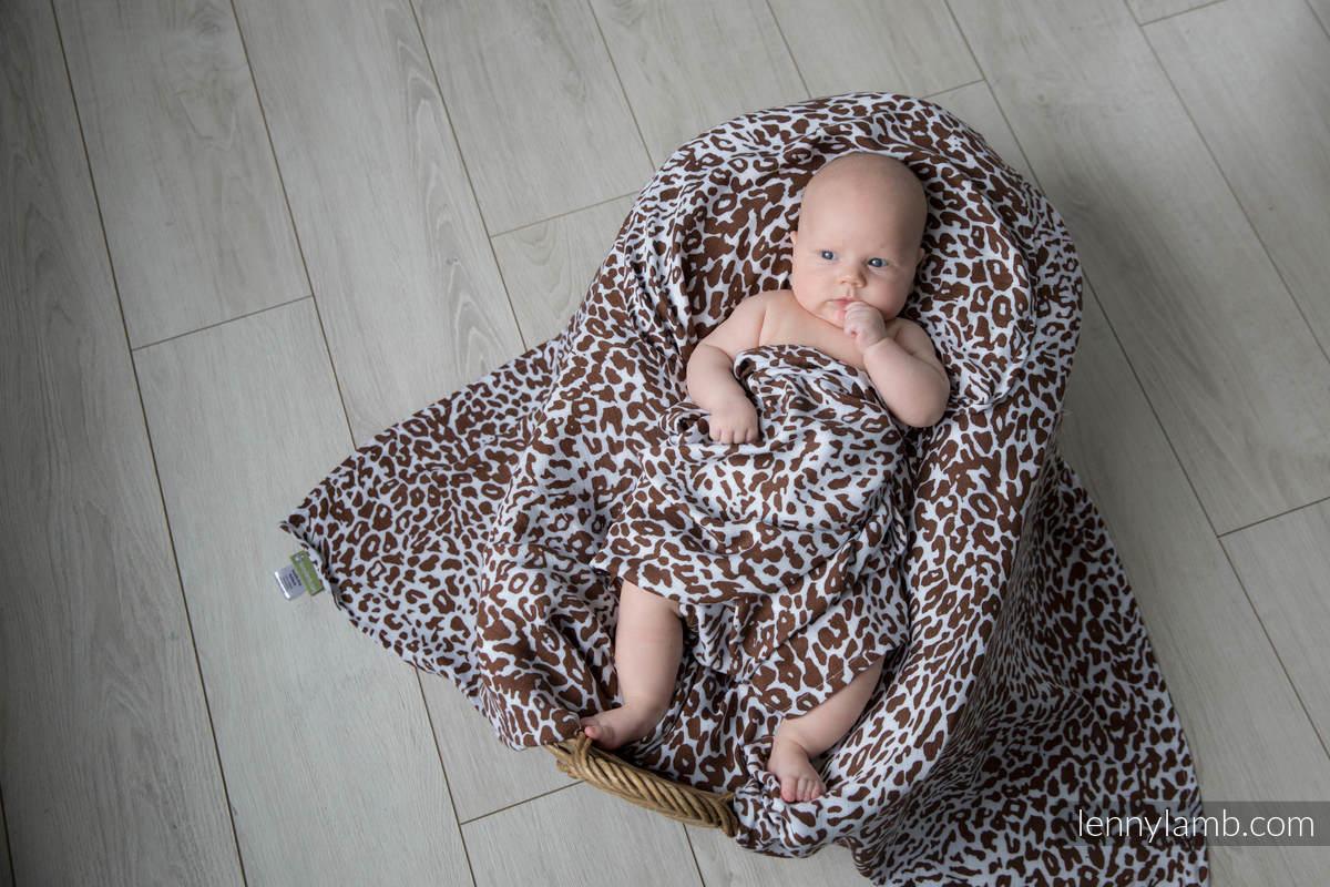 Otulacz Bambusowy - GEPARD BRĄZ Z BIAŁYM #babywearing