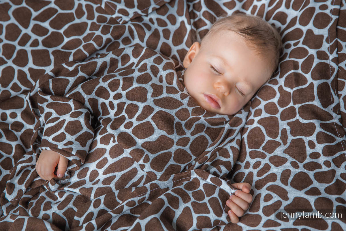 Muslin Square - GIRAFFE BROWN & CREAM #babywearing