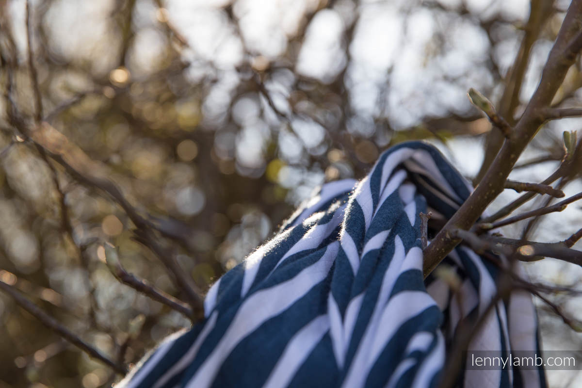 Swaddle Wrap - ZEBRA NAVY BLUE & WHITE (grade B) #babywearing