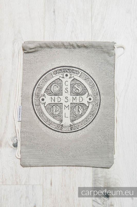 Plecak/worek z materiału żakardowego, (100% bawełna) - BENEDYKT - uniwersalny rozmiar 35cmx45cm #babywearing
