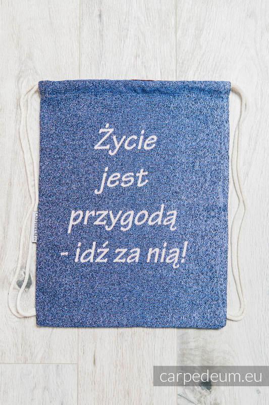 Plecak/worek z materiału żakardowego, (100% bawełna) - MATKA TERESA - uniwersalny rozmiar 35cmx45cm #babywearing