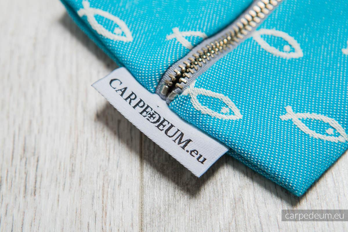 Piórnik z materiału żakardowego, (100% bawełna) - ICHTYS - NIEBIESKI #babywearing