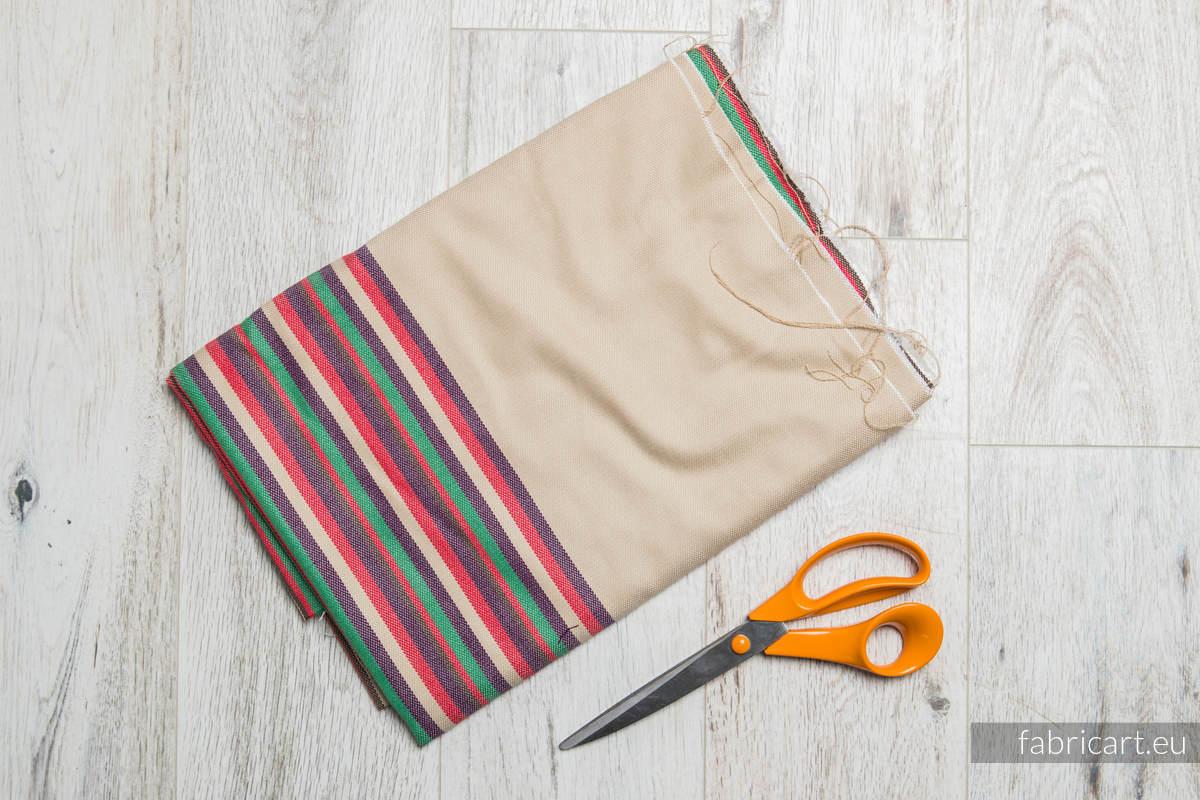 DESERT ROSE, fabric scrap, broken twill weave, size 100cm x 140cm #babywearing