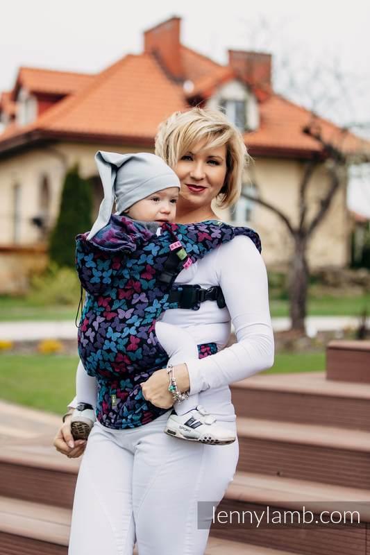 Nosidełko Ergonomiczne z tkaniny żakardowej 100% bawełna , Baby Size, SKRZYDŁA MOTYLA NOCĄ - Druga Generacja #babywearing